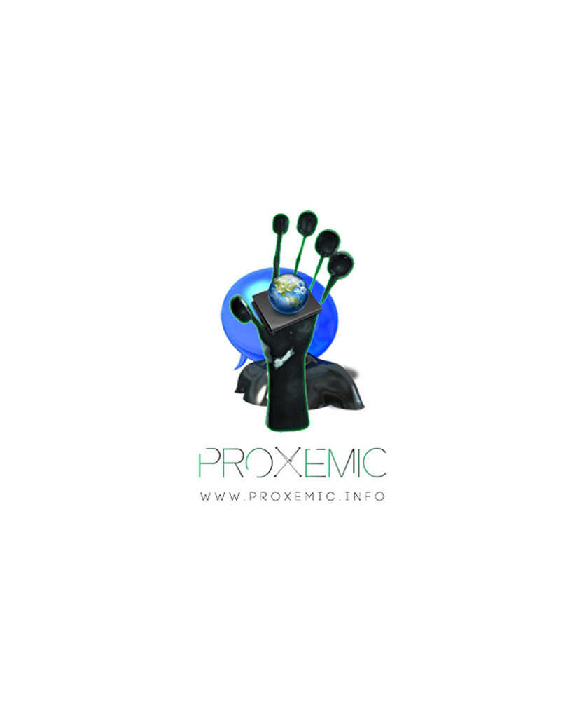 proxemic icon set sharing the same perimeter